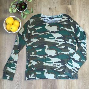 J. Crew Mercantile Long Sleeve Camouflage Sweater